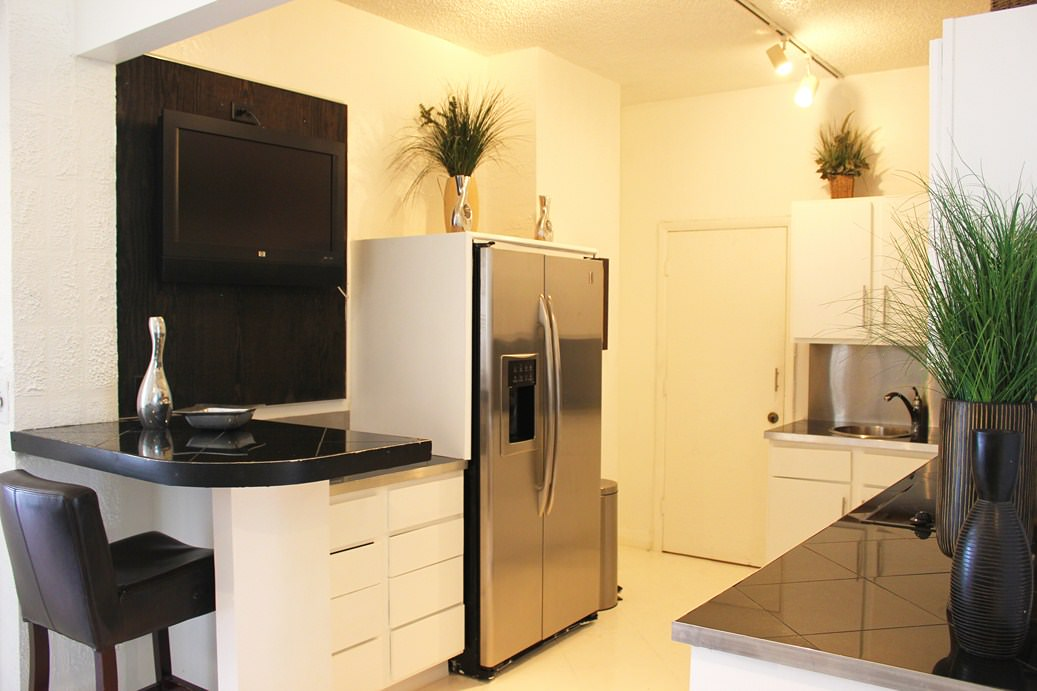 Kitchen with Stainless steel Appliances PHOTOS